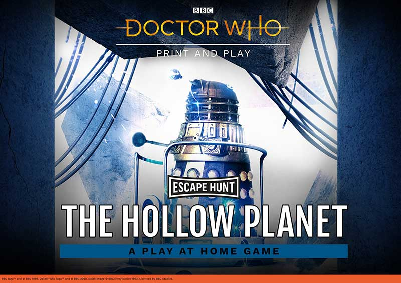 Doctor Who: The Hollow Planet can be played by all the family, check Escape Hunt website for more online escape rooms