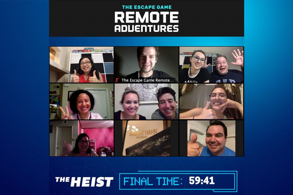 Virtual escape rooms with friends make a great back up for a celebration